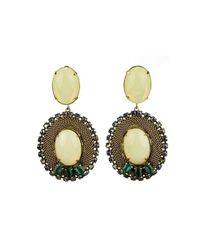 Nicole Romano - Brown Lacerta Earrings - Lyst