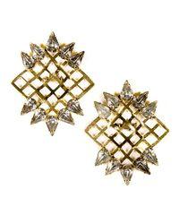 Nicole Romano | Metallic Kudzu Earrings | Lyst