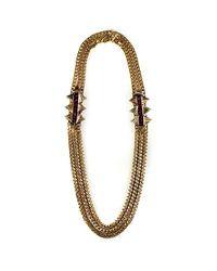 Nicole Romano - Metallic Empire Necklace - Lyst