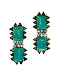 Nicole Romano - Green Chao Earrings - Lyst