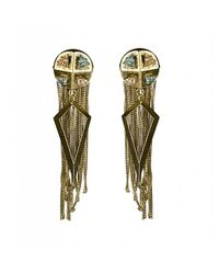 Nicole Romano | Metallic Bismark Earrings | Lyst