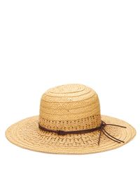 San Diego Hat Company | Natural Women's Ultrabraid Woven Paper Sun Brim With Faux Suede Trim | Lyst