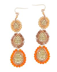 Nakamol - Three Tier Earrings-orange - Lyst