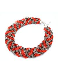 Nakamol - Multicolor Marja Necklace-red/grey - Lyst