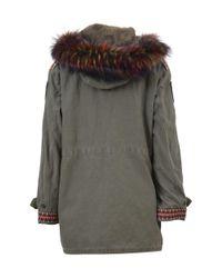 Bebe - Gray Women's Grey Cotton Jacket - Lyst