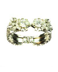 Otazu | Green Swarovski Crystal Encrusted Cuff | Lyst