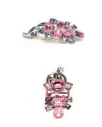 Otazu - Pink And Purple Small Surprise Swarovski Crystal Necklace - Lyst