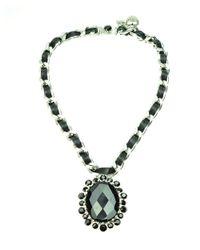 Otazu - Metallic Swarovski Crystal Pendant Necklace - Lyst