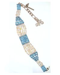 Otazu - Natural Pearl, Bead And Swarovski Crystal Choker - Lyst