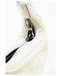 "Chloé - Natural 1 Cream Python & Leather Trimmed Silver Tone ""bracelet"" Bag - Lyst"