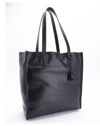 Prada - Black Calfskin Shoulder Tote - Lyst