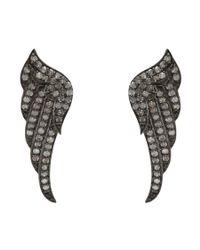 Adornia | Metallic Champagne Diamond Fallon Wing Earrings | Lyst