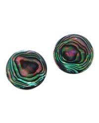 Aeravida | Green Nice Round Stone Sterling Silver Post Earrings | Lyst