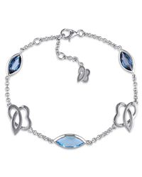 Julianna B | Metallic Blue Topaz & Swiss Blue Topaz London Bracelet | Lyst