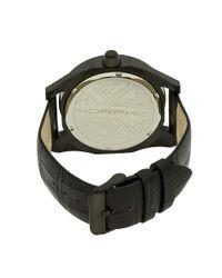 Morphic - Metallic M46 Leather-band Watch - Lyst