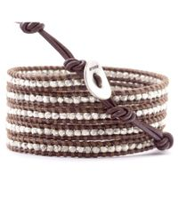 Chan Luu - Brown Suraiya Rose Gold Bead Wrap Bracelet - Lyst