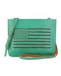 Most Wanted Usa - Green Americana Crossbody Bag - Lyst