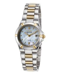 Citizen | Metallic Women's Riva Two-tone Stainless Steel Mother Of Pearl Dial Ss | Lyst