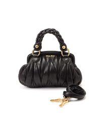 Miu Miu - Black Pre-owned: Two Way Bag - Lyst