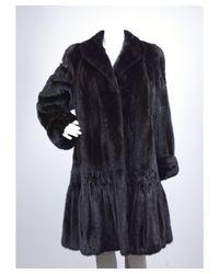 Valentino - Pre-owned: Black Mink Fur Coat - Lyst