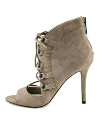 BCBGeneration - Deirdra Women Open Toe Suede Gray Sandals - Lyst