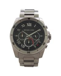 Michael Kors | Metallic Men´s Brecken Silver Chronograph Watch for Men | Lyst