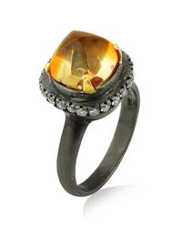Amrapali - Black Midnight Citrine And Diamond Ring - Lyst
