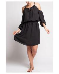 Bungalow 20 - Black Long Sleeve Cold Shoulder Dress - Lyst