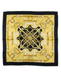 Hermès - Yellow Vintage Scarf Eperon D'or - Lyst