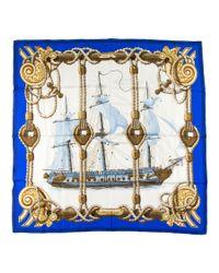 Hermès - Metallic Vintage Scarf Tribord - Lyst