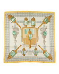 Hermès - Multicolor Vintage Scarf Feux De Route - Lyst