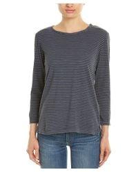 Current/Elliott - Gray The Game Day Linen-blend T-shirt - Lyst