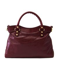 Balenciaga - Red Giant City Tote - Lyst