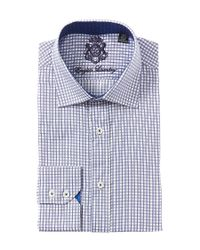 English Laundry | Blue Plaid Cotton Dress Shirt for Men | Lyst