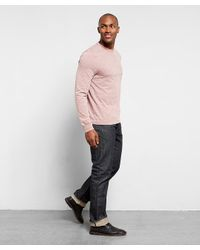 Threads For Thought - Pink L/s Triblend Pocket Crew Tee for Men - Lyst