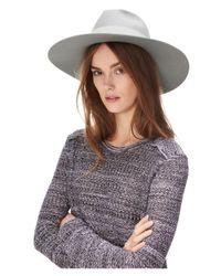 Liebeskind Berlin - Gray Floppy Wide Brim Wool Hat - Lyst