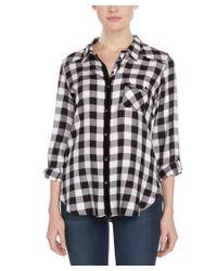 C&C California | C&c California Black Plaid Flannel Tunic Top | Lyst