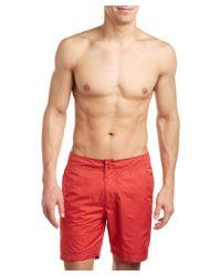 Robert Graham - Red Fiji Swim Trunk for Men - Lyst