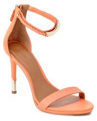 Rachel Roy | Orange Parker Leather Sandal | Lyst