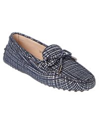 Tod's - Blue Gommino Metallic Suede Driving Shoe - Lyst