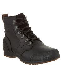 Sorel | Black Men's Ankeny Mid Hiker Ripstop Waterproof Leather Boot for Men | Lyst