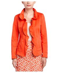 Lafayette 148 New York - Orange Petites Regine Jacket - Lyst