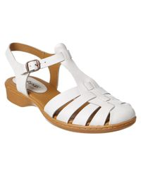 Softspots - White Soft Spots By Sofft Holly Leather Sandal - Lyst