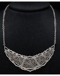 Lois Hill - Black Silver Graduated Bib Toggle Necklace - Lyst