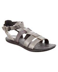 Born - Metallic Karalie Leather Sandal - Lyst