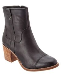 Sperry Top-Sider | Black Helena Leather Ankle Boot | Lyst