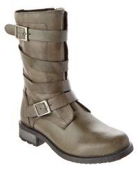 Eric Michael   Gray Parigi Leather Bootie   Lyst