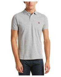 Ralph Lauren   Gray Polo Custom Fit Polo Shirt for Men   Lyst