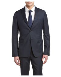 Ermenegildo Zegna | Black Z Slim Fit Suit With Flat Front Pant for Men | Lyst