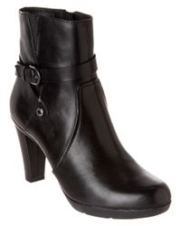 Geox   Black D Inspirat.st Leather Ankle Boot   Lyst
